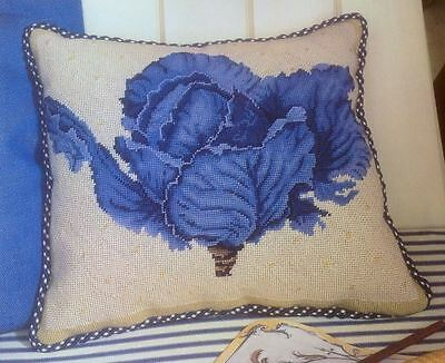 Ehrman Designer GRAHAM RUST  CABBAGE CUSHION Colour tapestry needlepoint chart