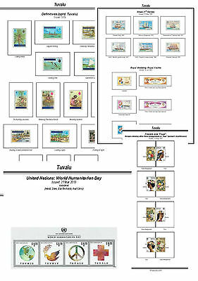 Print a Tuvalu Stamp Album Fully Annotated & Completely Colour Illustrated