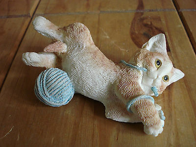 Ginger Kitten Playing With Wool Ornament