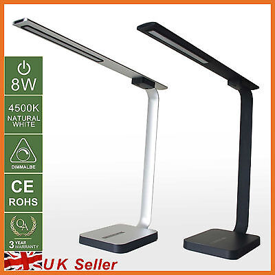 8W Elegant LED Dimmable Touch Table Desk Lamp Bedside Light Valentine Gifts x1