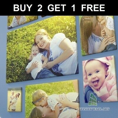 Canvas Print Your Photo On Large Personalised Box Framed -A5 A4 A3 A2 A1 A0--Ca