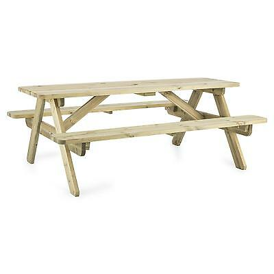 Garden Table+ Bench 32 Mm Pine Wood Strong Home Shop Furniture Outdoor Durable