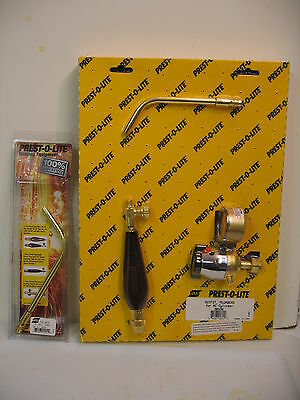Prest O Lite Acetylene Mc Torch 2 Tips & Hose