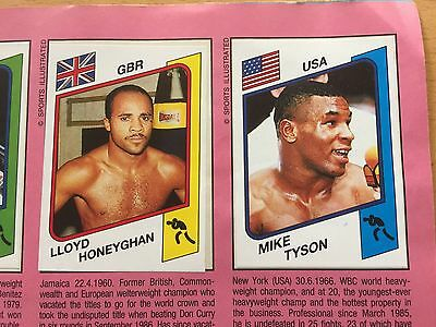 1986 Mike Tyson Rookie Card # 153 . Panini Supersport.album Complete