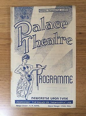 1949 Vintage Theatre Programme Palace Theatre Newcastle upon Tyne