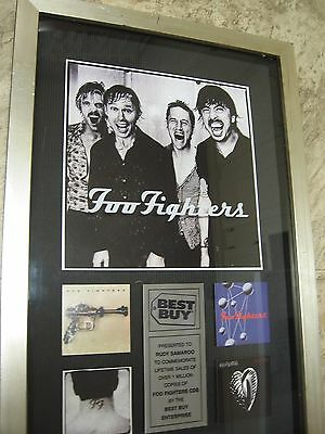 Rare Music Collectible Display Award- FOO FIGHTERS- million+ sold CD's BestBuy