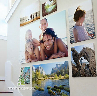 Your Photo Picture on Canvas Print A0 to A5 Box Framed Ready to Hang__CA