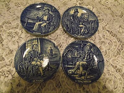 Enoch Wedgwood ( Tunstall LTD ) mniature blue and white collectors plates