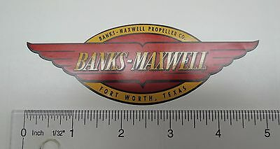 Banks-Maxwell propeller decal - RED