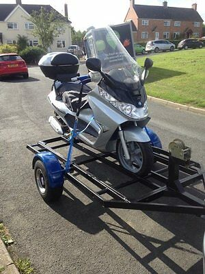 Single Motorcycle Trailer (rare trailer) no ramps needed, 12v winch fitted,