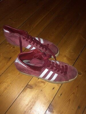 Adidas Men's Trainers, Burgundy, Size 10