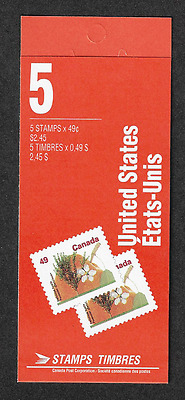 Canada Stamps -Booklet Pane of 5 -Fruit Tree: Delicious Apple #1364b (BK156) MNH