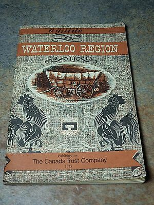 Vintage Waterloo Ontario Guide to the City Canada Trust Bank 1973 Tour Book VG+