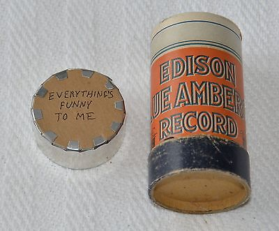 Edison Blue Amberol Cylinder Record #3587 - Everything's Funny To Me