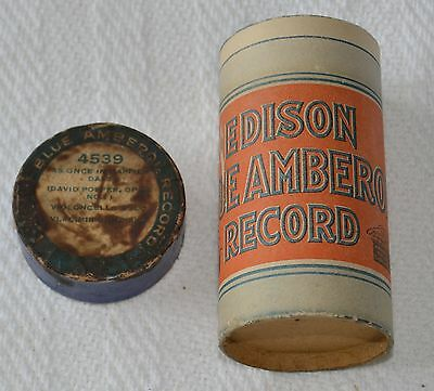 Edison Blue Amberol Cylinder Record #4539 - As Once In Happier Days