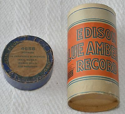 Edison Blue Amberol Cylinder Record #4658 - Poppies (A Japanese Romance)