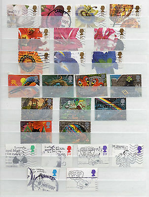 Great Britain 51 Different Greetings Stamps