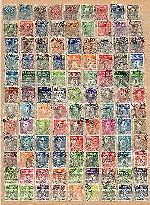 Denmark 450+ Different Used Stamps