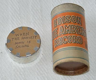 Edison Blue Amberol Cylinder Record #4107 - When The Harvest Moon is Rising