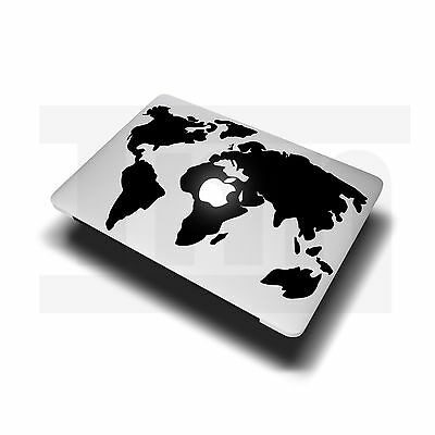 "World Map Decal Sticker for Apple MacBook Air Pro Laptop 11"" 13"" 15"" 17"""