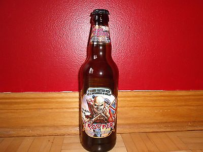 Iron Maiden The Trooper Beer Bottle + Cap Empty Limited Edition Usa Shipping 12$