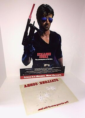 Sylvester Stallone Cobra Rare Unused Hanging Mobile Display with Extra 1986