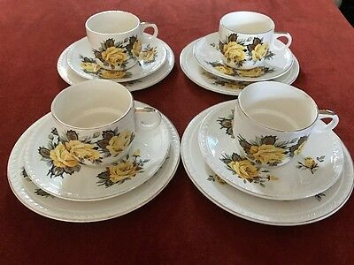 Brexton England Teacups, Saucer and Plate sets