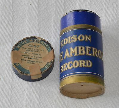 Edison Blue Amberol Cylinder Record #4297 - The Bird and The Saxophone