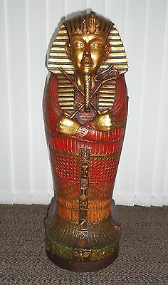 Egyptian Sarcophagus Mummy King Tut Cd Cabinet / Storage