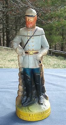 "Vtg Whiskey DECANTER General STONEWALL JACKSON. 14"" tall. Ceramic. Empty"