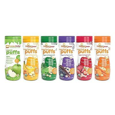 Happy Baby Organic Puff Variety Pack 6 Count