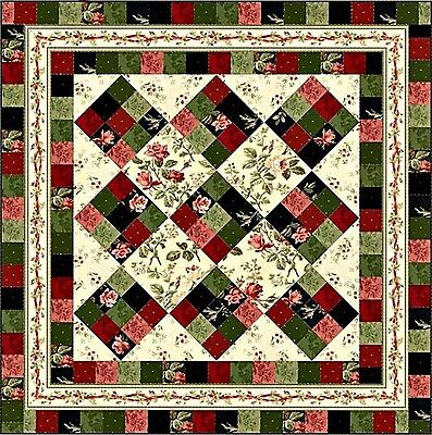 Dollhouse Miniature Computer Printed Fabric Quilt Floral Patchwork Quilt Top