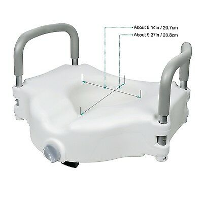 JCMASTER Elevated Raised Toilet Seat with Removable Padded Arms Standard Seat...