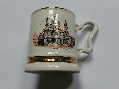 Prince William ST PAUL'S CATHEDRAL 22 Carat  Gold TANKARD Mug Cup COLLECTABLE