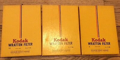 KODAK Wratten Filters 5 X 7 in. (blue, green and red)