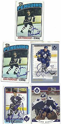 1976 Topps #14 Jean Pronovost Pittsburgh Penguins Signed Autographed Card