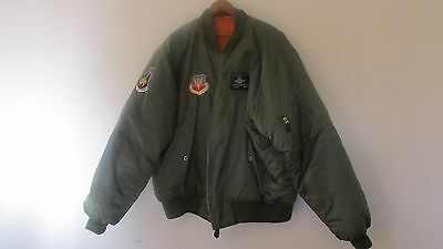 RARE US Air Force 354th Fighter Squadron High Officer's FLIGHT JACKET!.