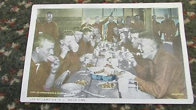 RARE WW1 1918 US Army  Post CARD: LIFE at CAMP DIX,N.J by YMCA !