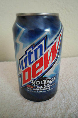 Mountain Dew Voltage Collectible 12oz Can Limited Design Advertising Mtn