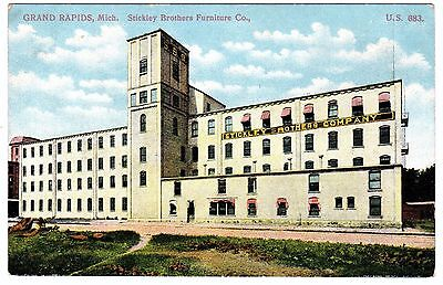 NICE - Stickley Brothers Furniture Co Grand Rapids MI Advertising Postcard  1908