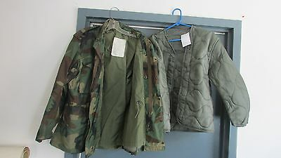 Nice Woodland Camouflage - Military M-65 Cold Weather Field Jacket,+ New Liner