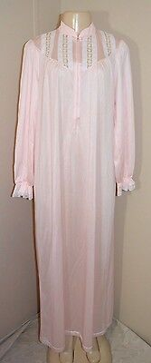 "Vintage Shadowline Silky Lacey Nylon Long Nightgown-Size M-Bust To 42""-W/tags"