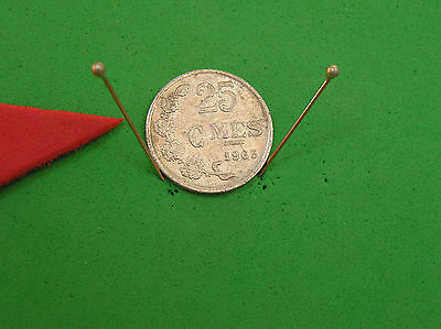 L-too: LUXEMBOURG 25 centimes ~~ 1965 ~~ OBSOLETE with MINTAGE ONLY 2.0 MILLION