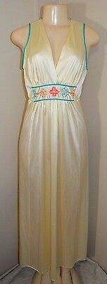 Vintage Silky Nylon Long Nightgown-Size S-Bust To 36""