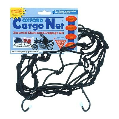 Oxford Elasticated Motorcycle Cargo Net for Motorbikes Scooters  Black