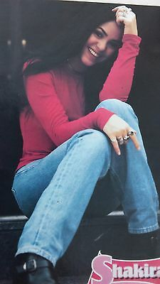 SHAKIRA, coqueta in red, mexico street poster