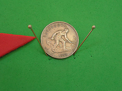L-too: LUXEMBOURG 1 FRANC ~~ 1952 ~~ OBSOLETE with MINTAGE ONLY 5.0 MILLION