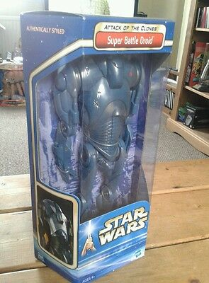 """Star Wars 12"""" Saga Attack Of The Clones Super Battle Droid Figure New Sealed"""