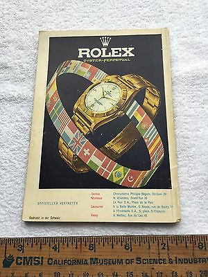 Old Rolex Oyster Perpetual Watch Magazine Ad Vintage 1951 Guide Book Patek