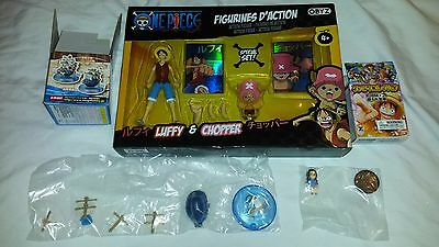 Bnib One Piece Luffy & Chopper Action Figures + Small Girl Figure + Boat Uk Del